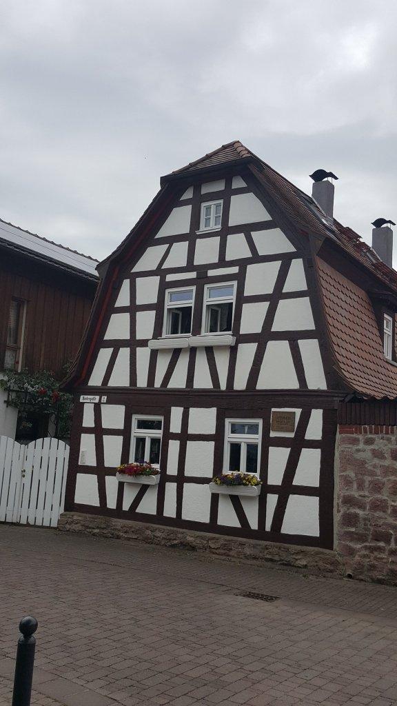 Casa típica alemã. Arquitetura enxaimel.